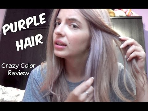 Purple Hair Crazy Color Review YouTube