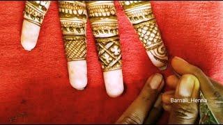 Bridal Fingers Mehandi design in Bengali