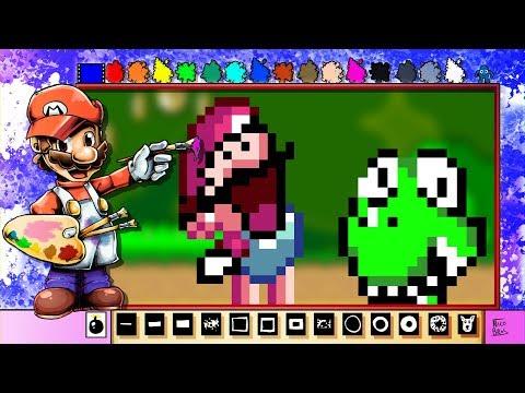 Diagonal Mario Paint?! - Mario Paint Creations