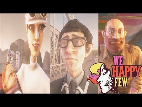 WE HAPPY FEW All Endings (Act 1,2,3 Ending) - Full Release