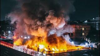 **Heavy Fire** [ Bronx 4th Alarm Box 2994 ] Massive Fire Rips Through Auto Repair Shop and Garage