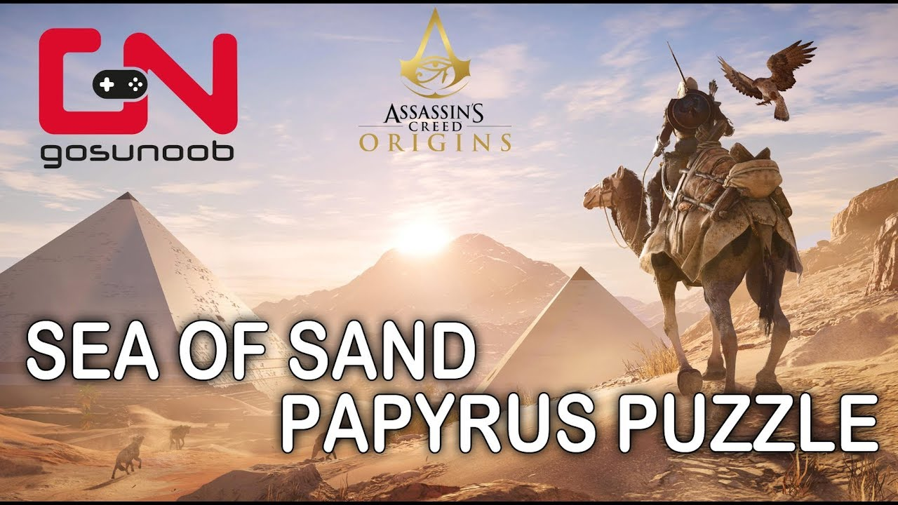 In S Creed Origins Sea Of Sand Papyrus Puzzle
