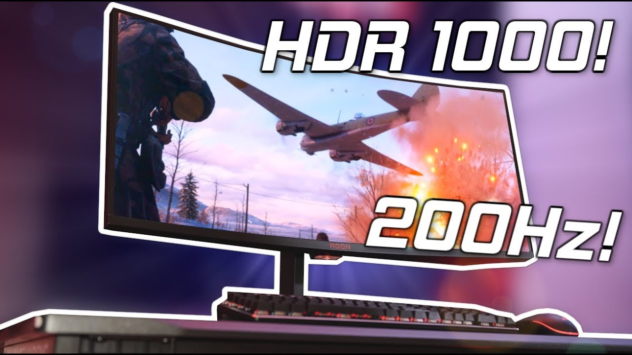 A 200HZ HDR 1000 ULTRAWIDE MONITOR! - AOC AGON AG353UCG Hands On!