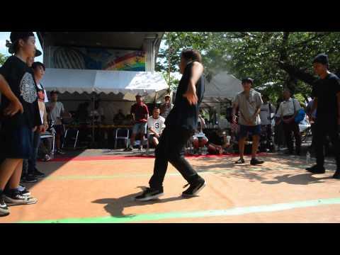 B-BOY PARK 2015 U20 Crew Battle 予選 Iligal Space vs Brash Rockers
