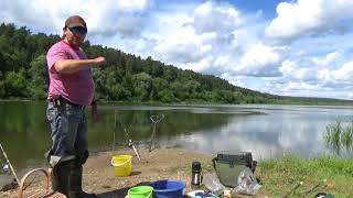 Рыбалка на Оке 05.07.2018.Фидер.Несимметричная петля.Дневная рыбалка