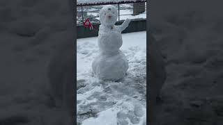 Así quedó el muñeco de nieve de Vegetta777 #Shorts