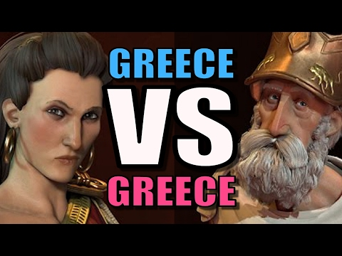 GREECE VS GREECE! | Civilization 6: AI Only 1v1 [Civ 6 Gameplay] Gorgo VS Pericles!
