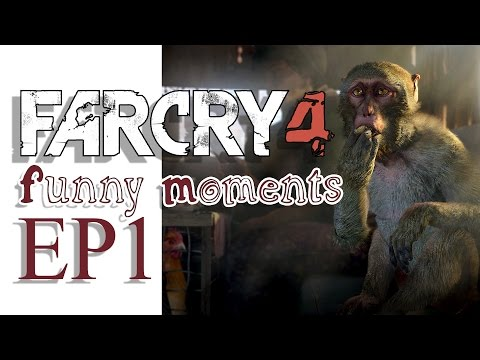 FARCRY 4 Funny Moments / Exploding Wolves, Bully Eagles, and Stunt Driving (EP 1)