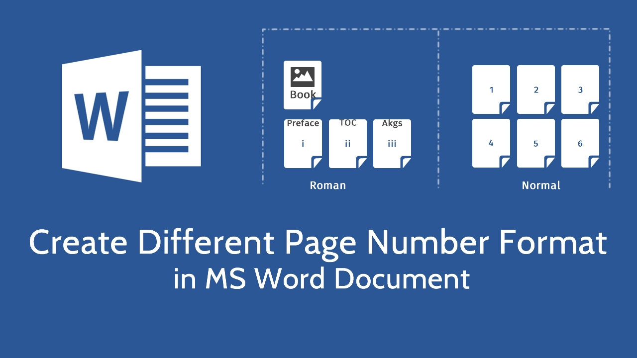 Create different page number format in microsoft word youtube create different page number format in microsoft word ccuart Image collections