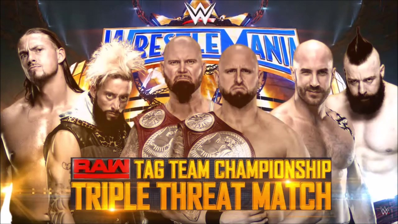 Image result for wrestlemania 33 Raw Tag Team Championship
