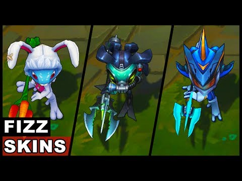 All Fizz Skins Omega Squad Super Galaxy Cottontail Void Fisherman (League of Legends)