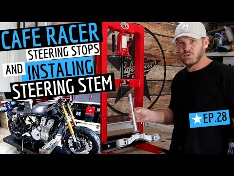 Cafe Racer ★ Custom Yamaha R6 Front End - Steering Stops & Steering Stem Replacement - EP 28