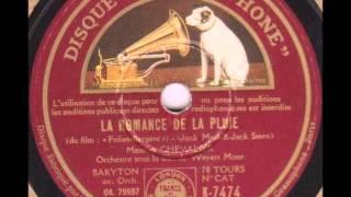 """Maurice Chevalier """" la romance de la pluie """" - film """" Folies-Bergère """" 1935"""