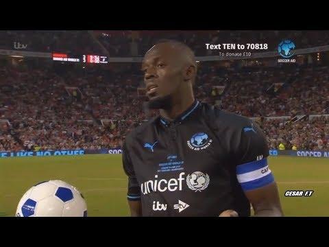 Así juega al fútbol Usain Bolt - England XI vs World XI - 10/06/2018