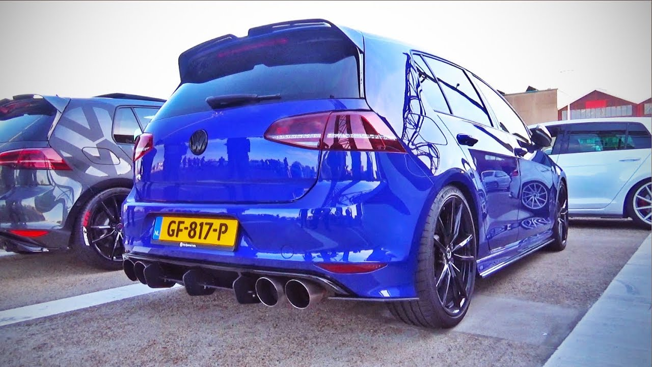 400hp vw golf r mk7 stage2 w loud custom exhaust youtube