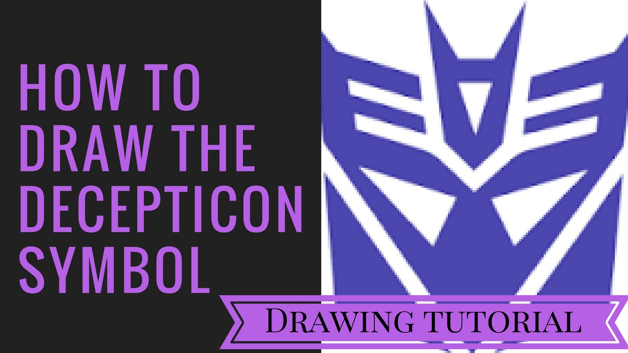 How to draw the decepticon symbol art tutorial youtube how to draw the decepticon symbol art tutorial biocorpaavc