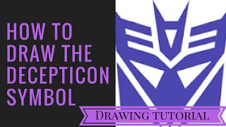 How to draw the decepticon symbol | Art tutorial