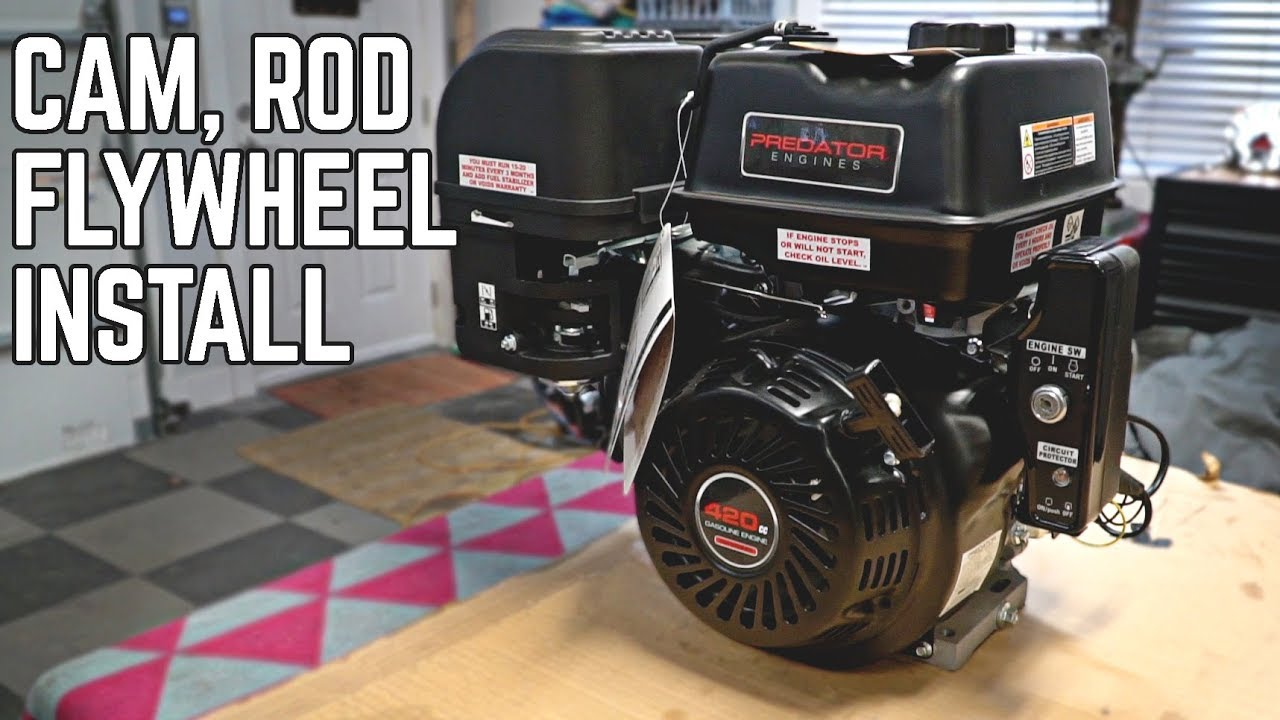 predator 420cc stage 2 build pt 1 cam rod flywheel etc  [ 1280 x 720 Pixel ]