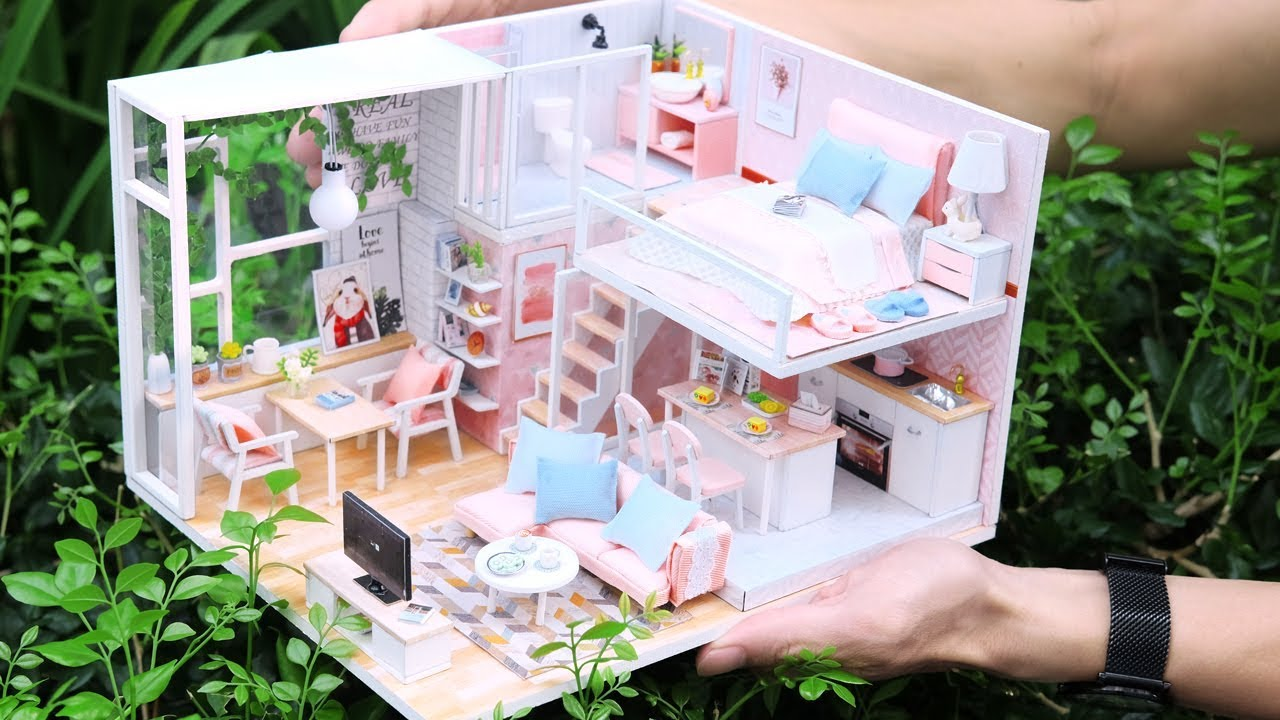 Diy Miniature Dollhouse Kit Tranquil Life With Full