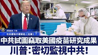 川普:美病毒檢測能力領先 密切監視中共|新唐人亞太電視|20200512