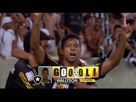 Gols Botafogo 4 x 0 Deportivo Quito - Libertadores 05/02/2014 - Globo HD
