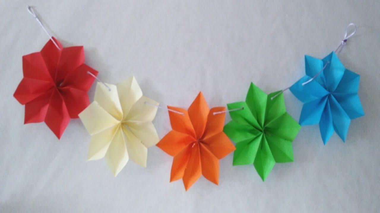 guirnaldas de estrellas en d faciles manolidades diy star garland paper