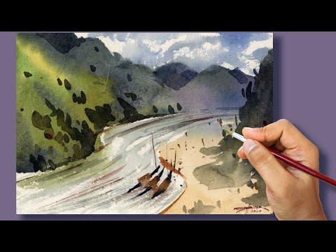 Quick Watercolor Landscape Painting 3