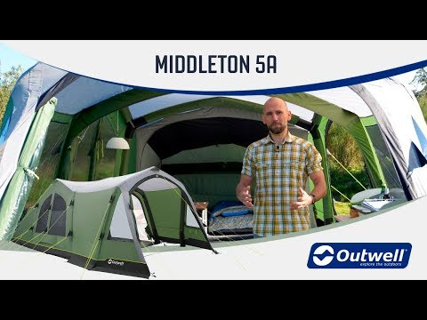 Outwell Middleton 5A - Air Tent (2019) | Innovative Family Camping