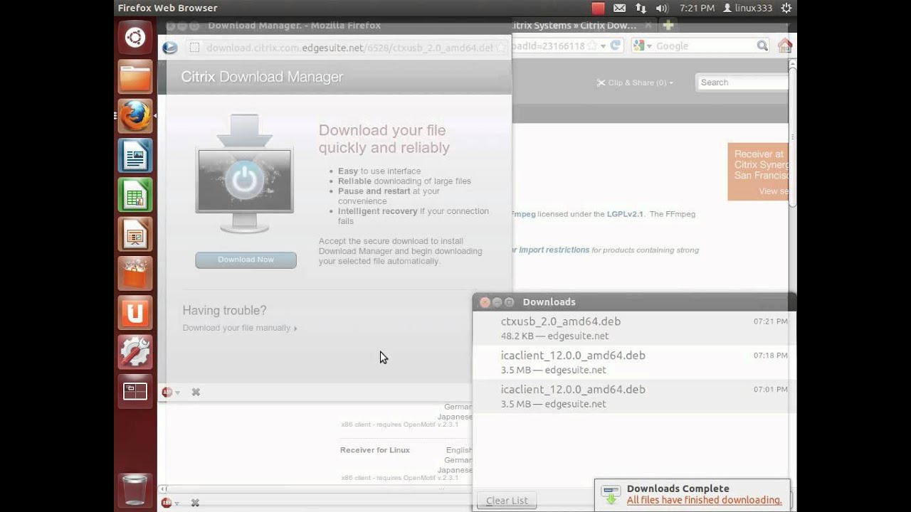 citrix receiver linux documentation
