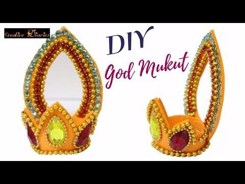 How to make Mukut for God at home I God's crown I Kundan Mukut I Creative Diaries