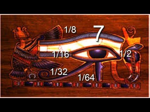 LOS NÚMEROS SAGRADOS EGIPCIOS Y EL OJO DE HORUS