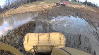 Caterpillar GoPro Hero2 Test Crawler Loader Pond Cleaning