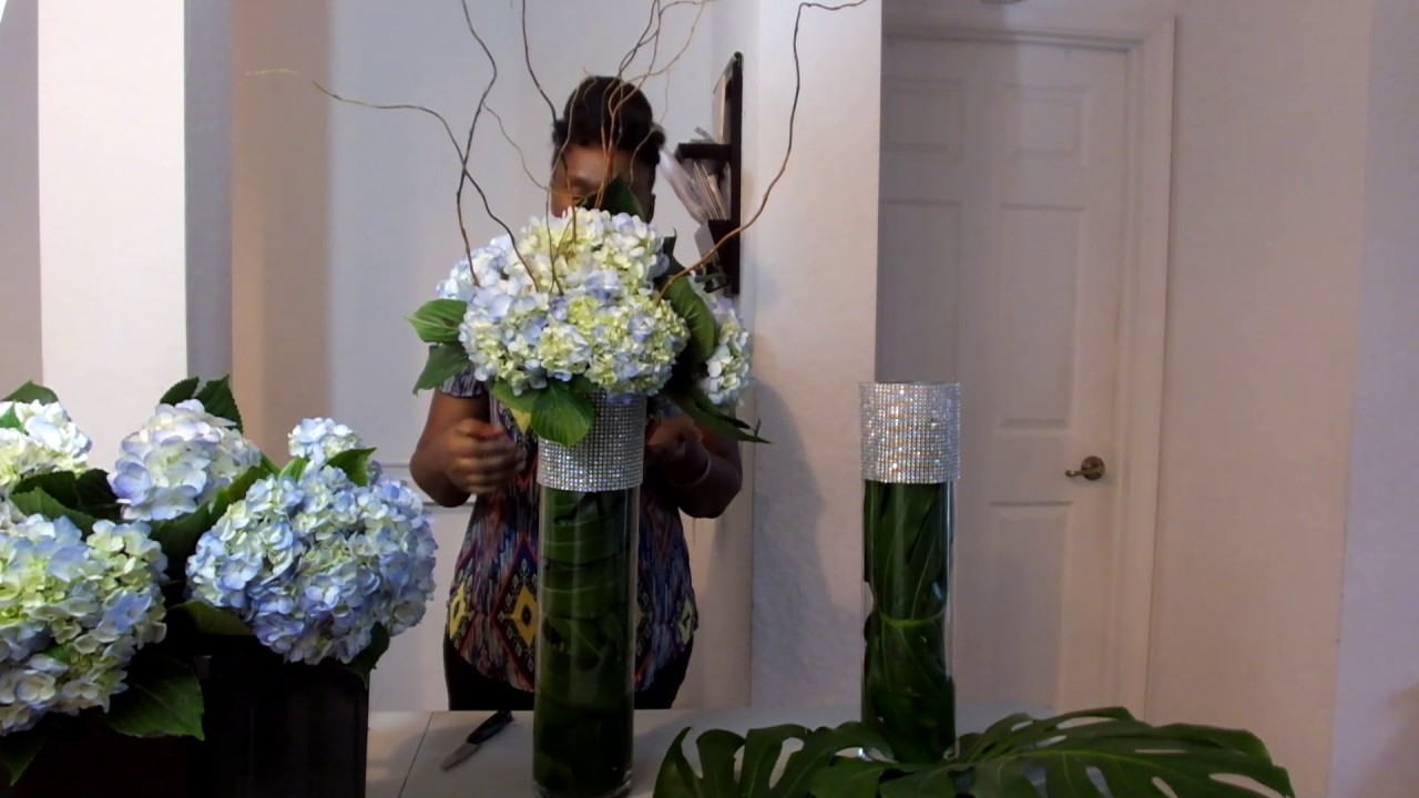 How to make floral arrangement tall wedding