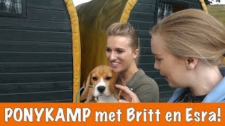 Britt en Esra gaan op ponykamp! | PaardenpraatTV