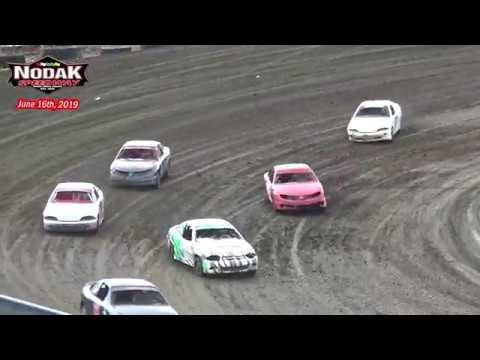 Nodak Speedway IMCA Sport Compact Races (6/16/19)