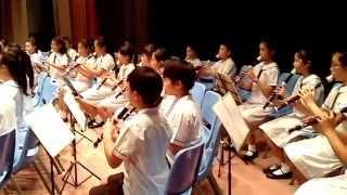 嘉諾撒小學直笛隊及直笛班2014畢業禮演出
