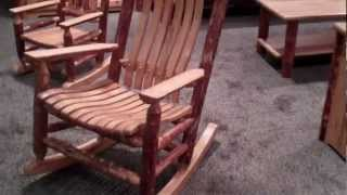 Amish Rocking Chair - Rustic Log Rocking Chair By Montana Woodworks