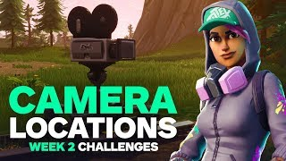 Fortnite: 7 Different Camera Locations and A Scarecrow, Pink Hotrod, and Big Screen