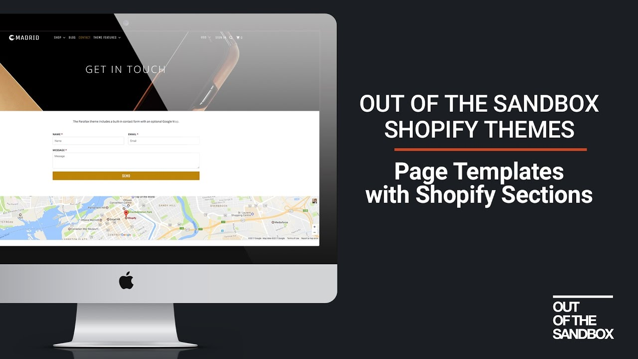 Out Of The Sandbox Page Templates With Shopify Sections Youtube