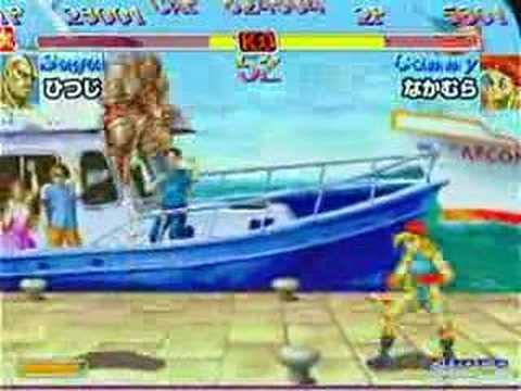 Mikado 5/18/07:  Hitsuji (Sagat) vs Nakamura (Cammy)