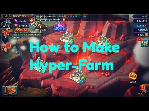 Lords Mobile : How To Build Hyper-Farm -[SGK]God DefenDER