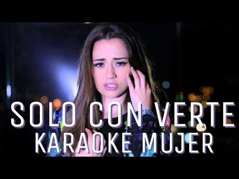 Sólo con verte - Banda MS (Carolina Ross cover) karaoke