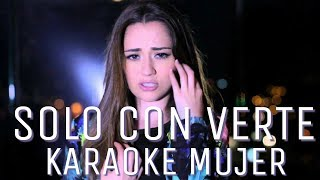 Sólo con verte - Banda MS (Carolina Ross cover) karaoke