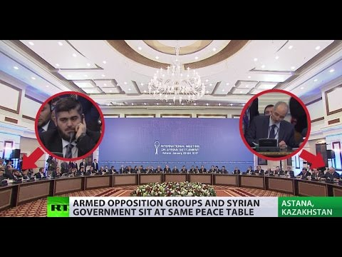 Syrian armed opposition & Assad govt reps meet for peace talks in Astana