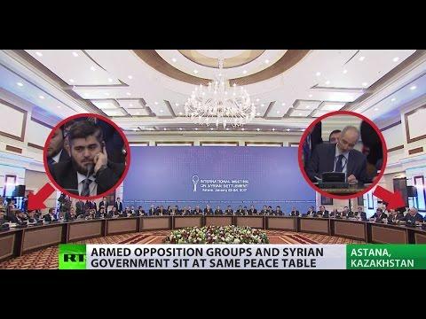 Syrian armed opposition & Assad govt reps meet for peace talks in Astana