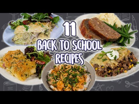 11 Easy Back to School Dinner Recipes | Less Prep Less Cleanup Family Dinners| Recipe Super Comp