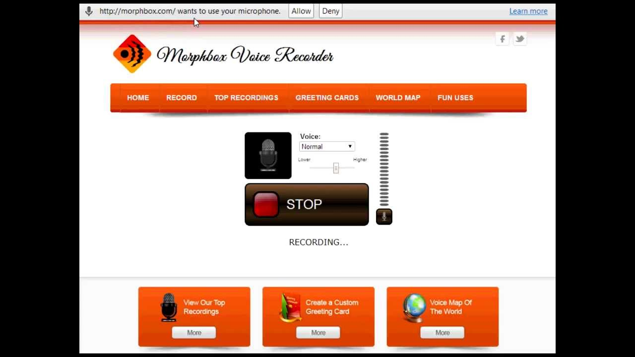 Online Voice Recorder Morphbox Youtube