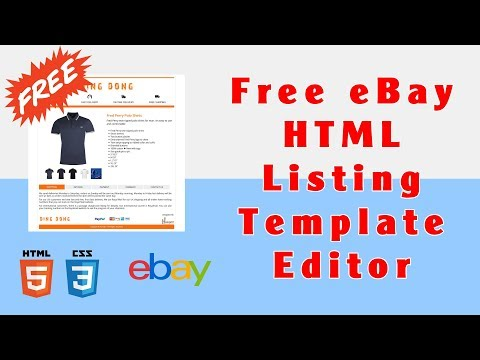 EBay Listing Editor: How To Edit Free EBay HTML Listing Template?