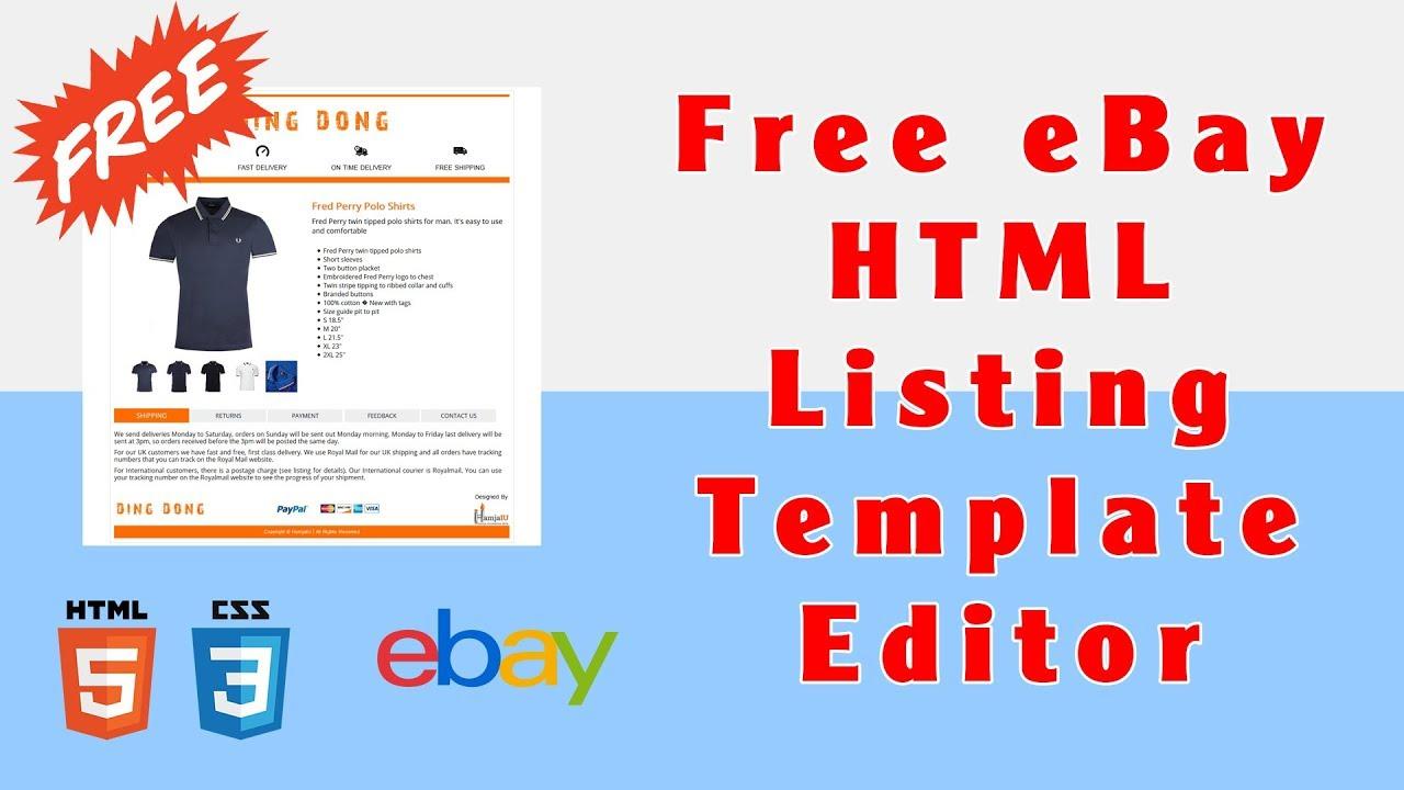 Free Ebay Html Listing Template Download Shop Blueprint