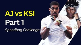 ANTHONY JOSHUA vs KSI Part 1: Speedbag Challenge | William Hill Boxing
